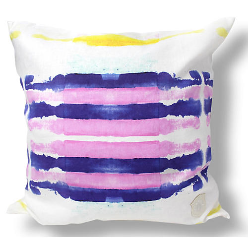Sailor Stripes 18x18 Linen Pillow