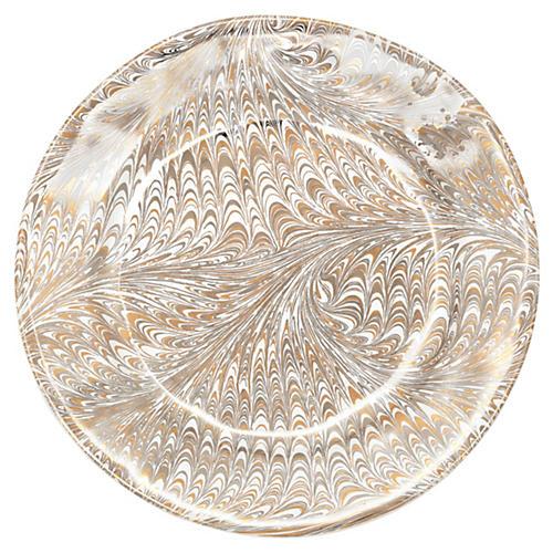 Firenze Dessert/Salad Plate, Medici Gold