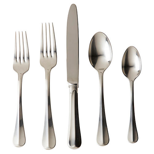5-Pc Bistro Place Setting, Silver