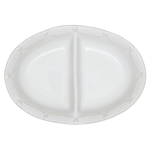 Berry & Thread Sectional Bowl, White