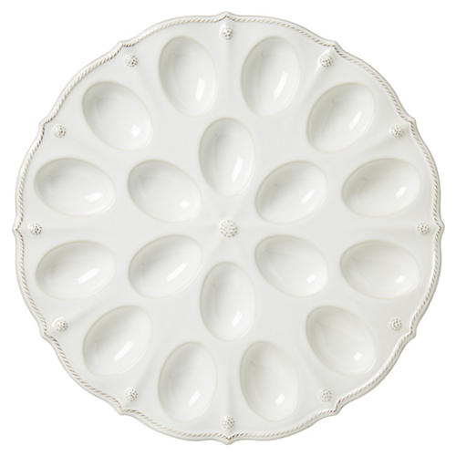 Berry & Thread Egg Platter, White