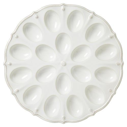 Berry & Thread Egg Platter, White