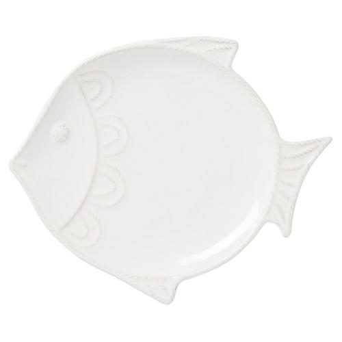 "Berry & Thread ""Fish"" Plate, White"