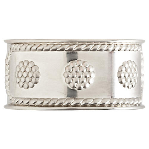 Berry & Thread Napkin Ring, Silver