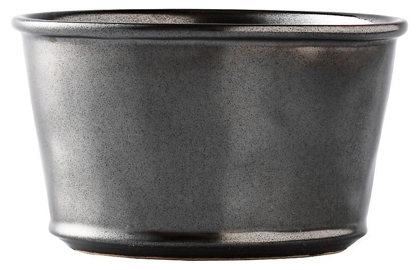 Stoneware Ramekin, Pewter