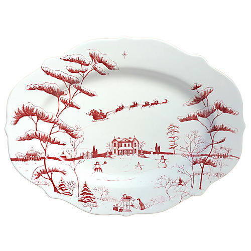 Country Estate Winter Serving Platter