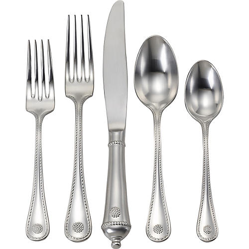5-Pc Berry & Thread Place Setting, Silver