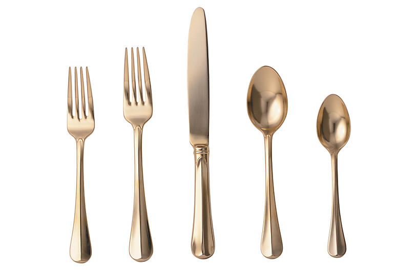 5-Pc Bistro Place Setting - Gold - Juliska