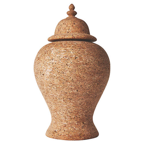 Quinta Cork Ginger Jar, Natural