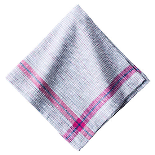 Khadi Plaid Napkin, Multi