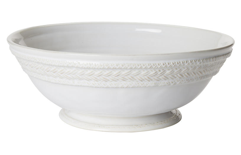 Le Panier Footed Fruit Bowl, White