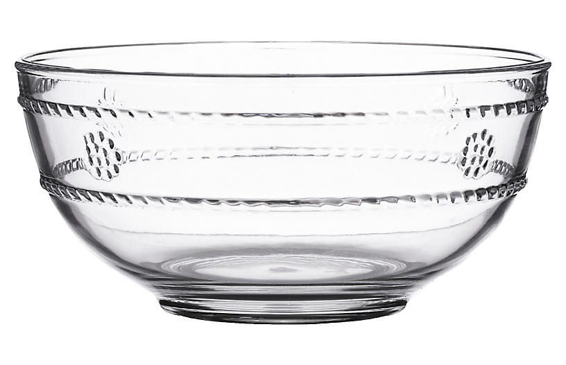 Isabela Acrylic Berry Bowl, Clear