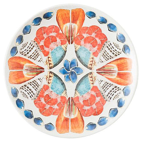 Oceanica Melamine Dessert Plate, Orange/Multi