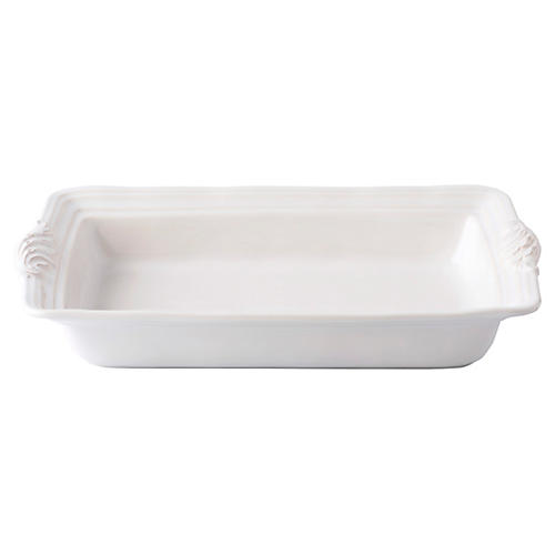 Acanthus Rectangular Casserole Dish, White