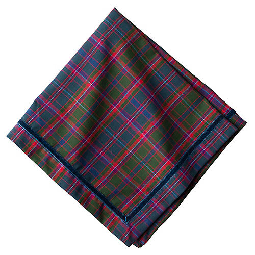Chalet Tartan Dinner Napkin, Green/Multi