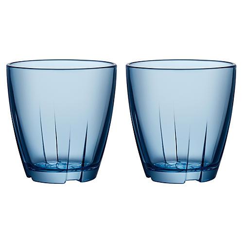 S/2 Bruk Short Tumblers, Blue