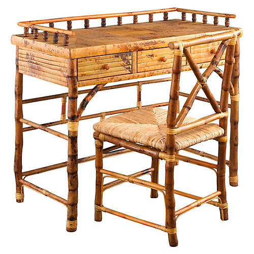 Eastbrook Desk and Chair Set, Tortoise