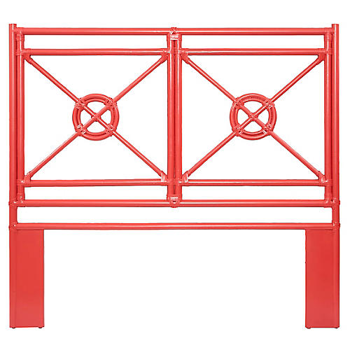 Naji Rattan Headboard, Red