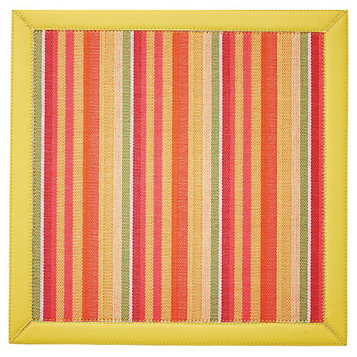 Deck Striped Place Mat, Yellow