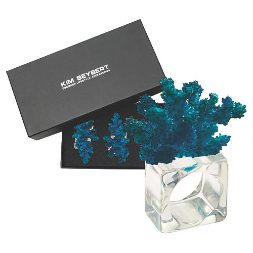 S/4 Reef Napkin Rings, Clear