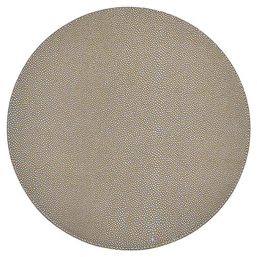S/4 Faux-Shagreen Place Mats, Gray