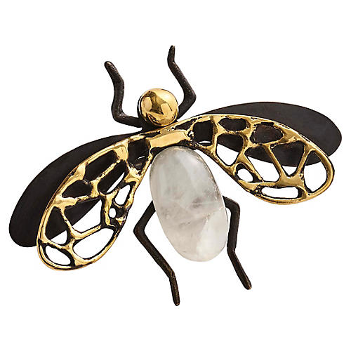 S/4 Fly Away Napkin Rings, Black/Multi