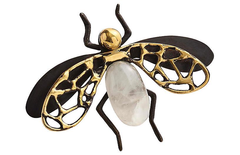 S/4 Fly Away Napkin Rings, Black/Multi