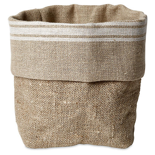 Manila Bread Basket, Tan/White