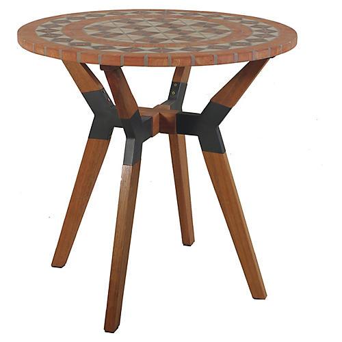 Terracotta Outdoor Bistro Table, Brown