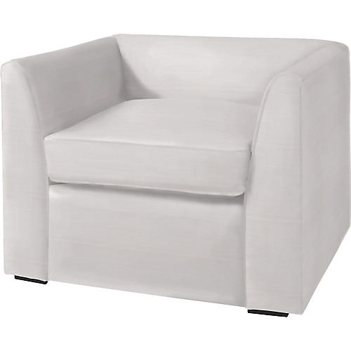 Charmer Club Chair, Eggshell