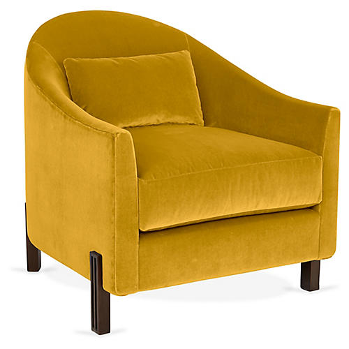 Brute Club Chair, Citrine Velvet
