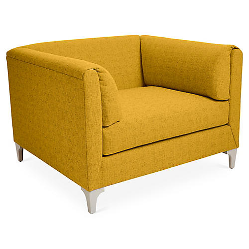 Beau Club Chair, Citrine