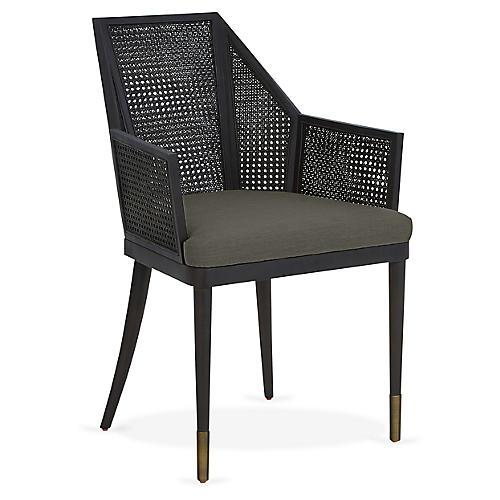 Cane Armchair, Smoke Ash