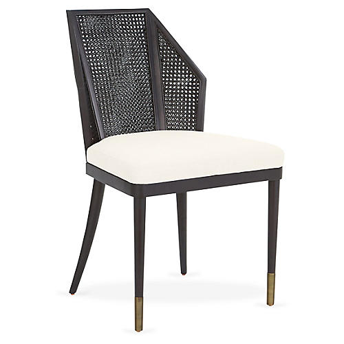 Cane Side Chair, Oyster