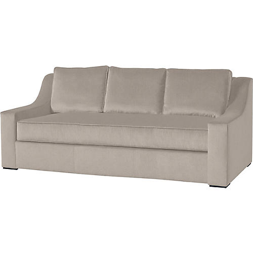"Lax 84"" Linen Sofa, Ivory"
