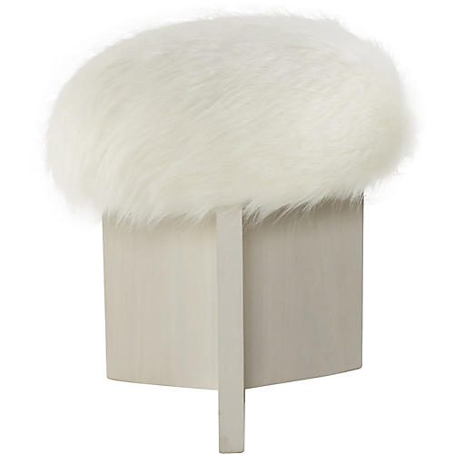 Shorty Stool, White