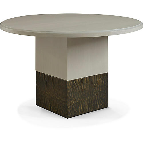 """Solid 48"""" Dining Table, White"""