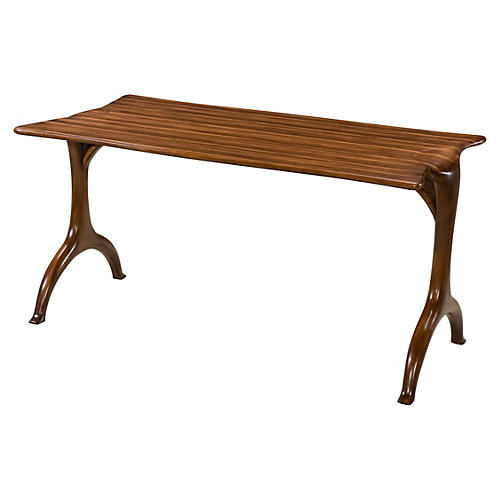 "Stream 60"" Console Table, Medium Brown"
