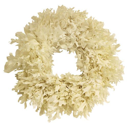 "26"" Transparent Oak Wreath, Dried"