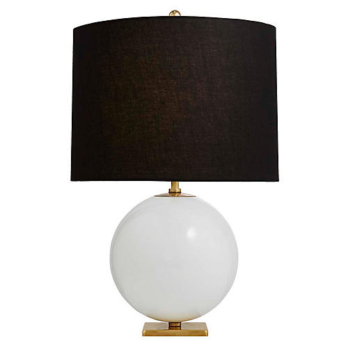 Elsie Table Lamp, Cream/Black