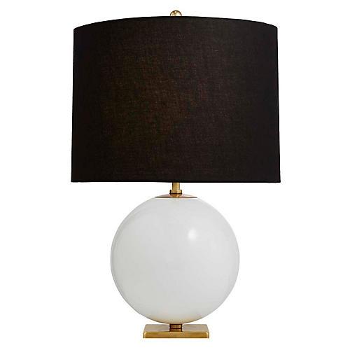 Elsie Table Lamp, Cream/Black