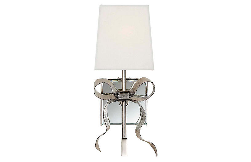 Ellery Bow Sconce, Polished Nickel