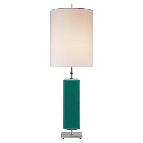Beekman Table Lamp, Turquoise/Cream