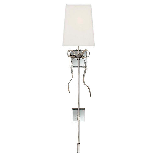 Ellery Tail Sconce, Polished Nickel