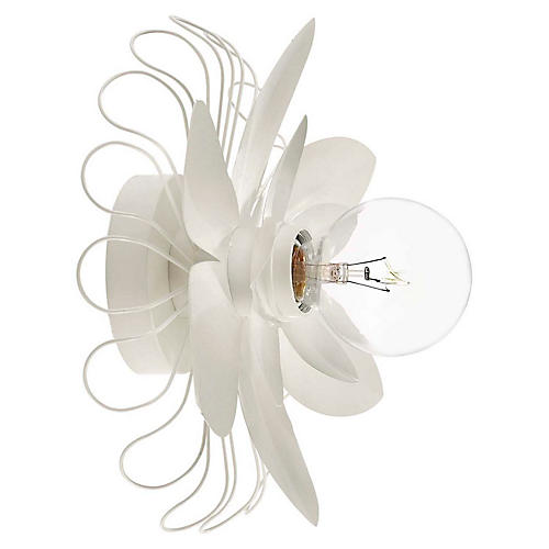 Keaton Mixed Floral Sconce, Light Cream