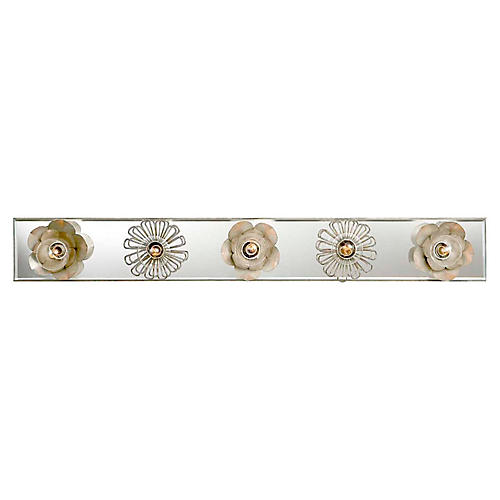 "Keaton 30"" Floral Sconce, Silver Leaf"