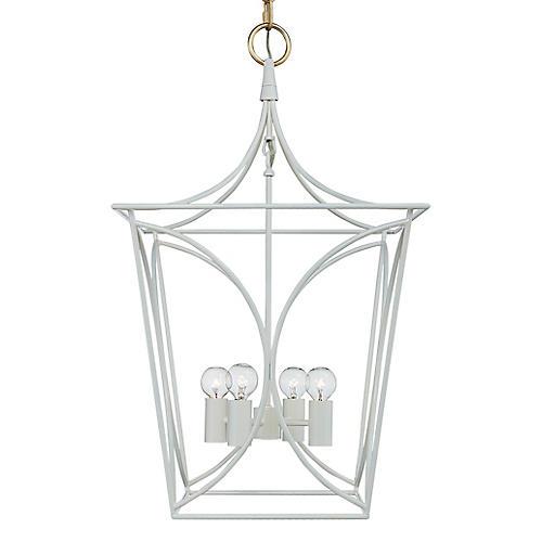 Cavanagh Lantern, Cream/Gold