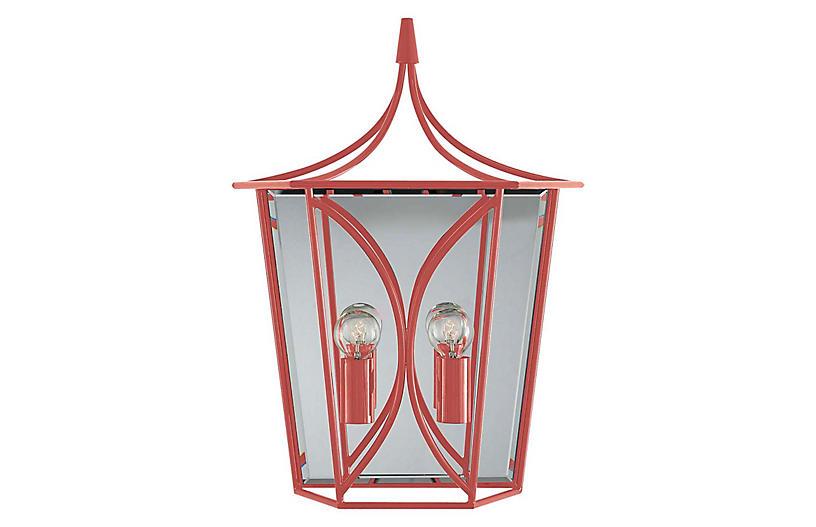 Cavanagh Medium Lantern Sconce, Coral