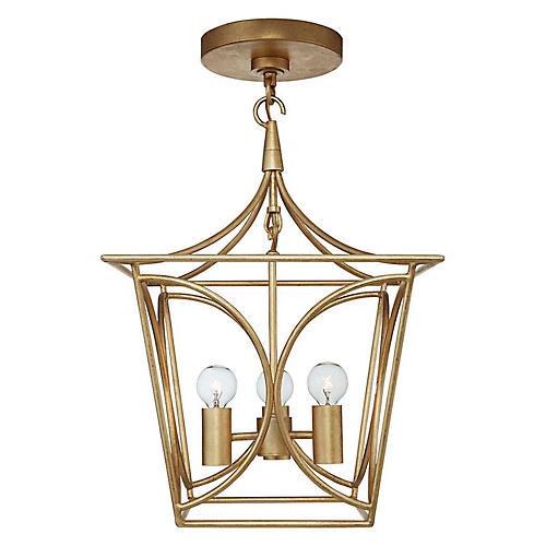 Cavanagh Mini Lantern, Gild