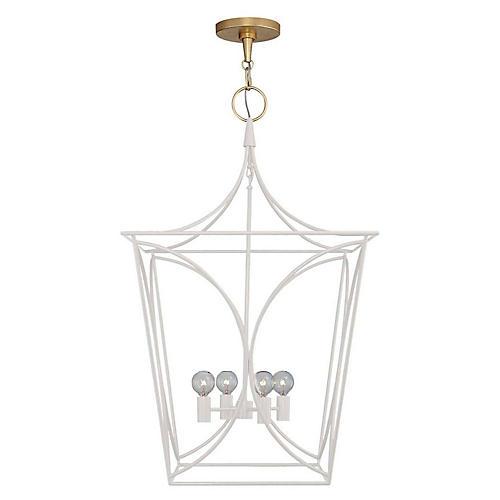 Cavanagh Medium Lantern, Light Cream